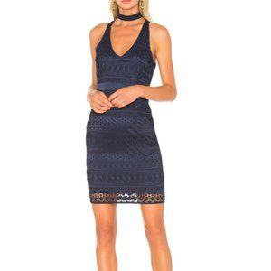 Likely Navy Blue Embroidered Lace Drew Dress